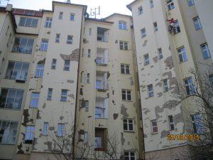 Oprava fasády domu Na Jezerce 55, Praha 4